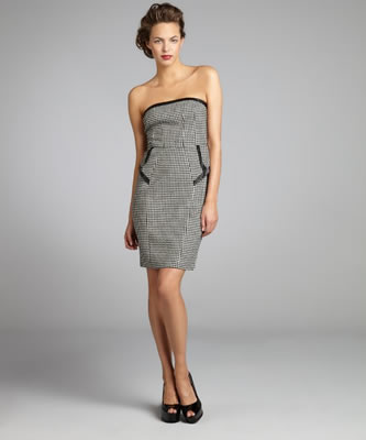 ABS by Allen Schwartz Houndstooth Dress