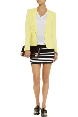 Rag & Bone Sara Black Striped Skirt