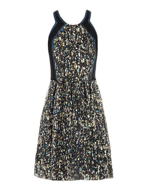Rebecca Taylor Sequin Print Dress