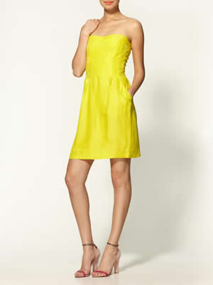 Rebecca Taylor Lemon Dress