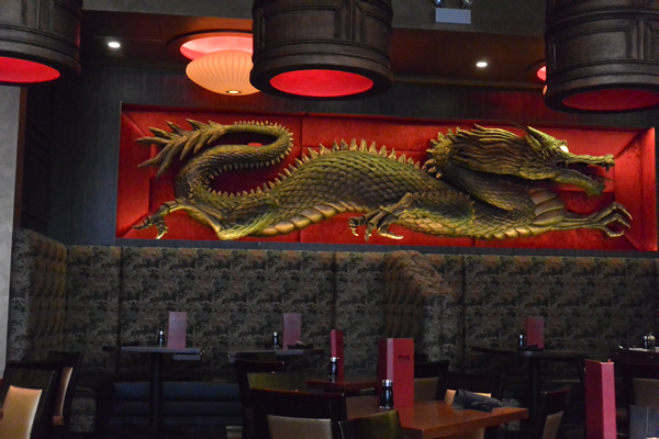 Dragon Statue at WOK'n FIRE