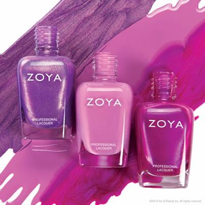 Zoya Radiant Orchid Nail Polish Shades