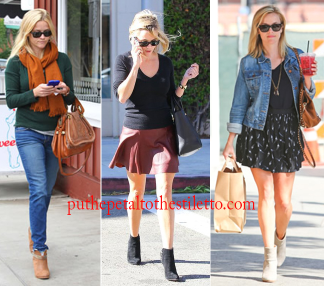 Reese Witherspoon in Ankle Booties