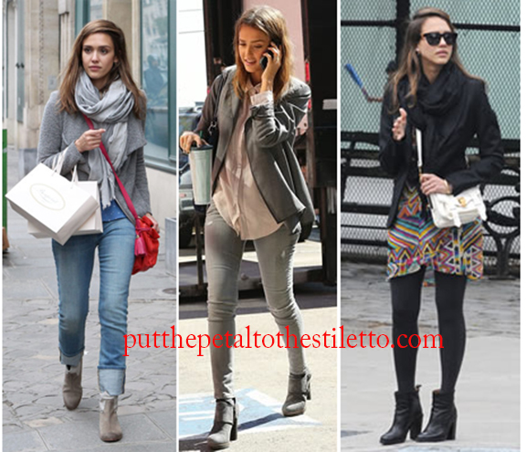Jessica Alba in Ankle Booties