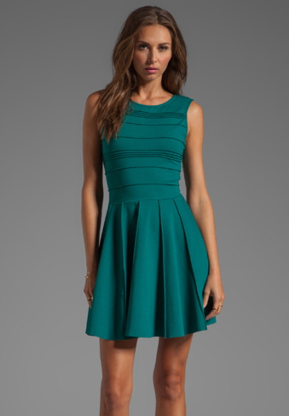"Parker ""Lacey"" Dark Green Dress"